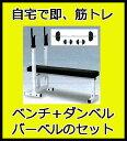 (ベンチプレス セット 100kg) STEELFLEX Φ28mmベンチプレス+100kgセット(ラバープレート)(上級者用筋トレセット) YY100+NO.7