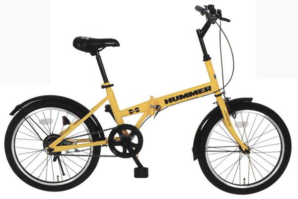[スーパーセール期間中!ポイント10倍]【メーカー直送のためき】【折りたたみ自転車】HUMMER FDB20R 20インチ折畳自転車 MG-HM20R 送料無料【折りたたみ自転車】
