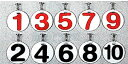 槌球運動 - サンラッキー・ゲートボール プレートゼッケン(10枚組) SGー971
