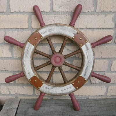 木製舵 シンプル M【壁掛け アンティーク風 レトロ】