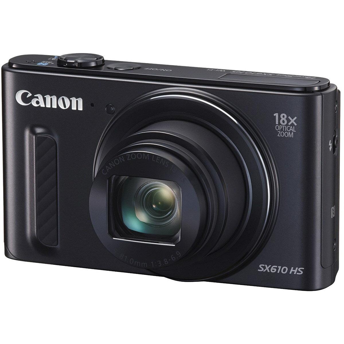 【送料無料】 キヤノン PowerShot SX610 HS ブラック [2020万画素/光学18倍ズーム/デジタルカメラ/Canon]