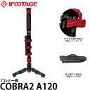 【送料無料】 IFOOTAGE COBRA 2 A120 自立式一脚 アルミ4段 高さ120cm/縮長55cm/重量1.35kg/耐荷重8kg/カメラ一脚/アイフッテージ