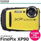 【送料無料】 フジフイルム FinePix XP90 イエロー [1640万画素CMOS/光学5倍ズーム/15m防水・防塵・耐衝撃/F FX-XP90Y/FUJIFILM]
