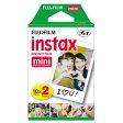 【あす楽対応】【即納】 フジフイルム チェキ用インスタントカラーフィルム instax mini K R2 2パック(10枚入×2)