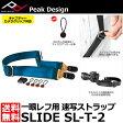 ショッピング写真 ストラップ 【送料無料】【あす楽対応】【即納】 ピークデザイン SL-T-2 スライド カメラストラップ ネイビー(タラック) [Peak Design Slide 一眼レフカメラ向け速写ストラップ]