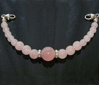 Natural stone rose quartz woman haori string