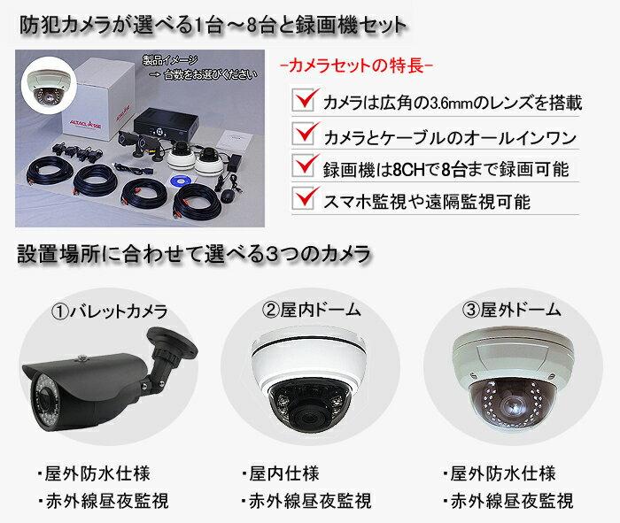 防犯カメラ 屋外 屋内 カメラ2台セット 22...の紹介画像2