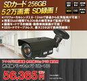 【送料無料】SDカード録画 52万画素 屋外 防水 赤外線 LED 暗視カメラ ケーブルレスで録画が可能! ITR-190
