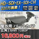 屋外用220万画素HD-SDI/EXSDI/CVI対応 赤外線バレット型防犯カメラ 広角レンズ3.6mmで広角監視が可能 SHDB-HDSDI-CVI220B2