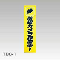 【防犯ステッカー】蓄光アクリル板「防犯カメラ録画中!」縦型【セキュリティーステッカー】
