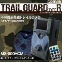 【防犯カメラ 電池式】『DELVER』 人感センサー搭載 トレイルカメラ 待機稼働3ヶ月 / 不可視赤外線搭載 【TRAIL GUARD typeR - トレイルガード リモコンタイプ -】(MS-300HCM) 小型カメラ / ビデオカメラ /ワイヤレス 車上荒らし SDカード録画
