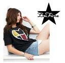 ■即納可■LA FINE LADY'S TEE Sectionedラファイン レディースTシャツCharcoal,Ivory