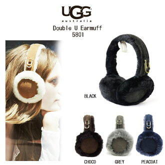 UGG 澳大利亞 CARRYFOEWARD 經典毛絨耳罩雙 U 耳罩 Ugg 澳大利亞女子賈梅女士 sheepskiniarmaf 與毛皮耳罩