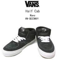 VANS OFF THE WALL ClassicsHALF CABバンズ ハーフキャブ ミッドカットスニーカーミドルカット、スェード ネイビーメンズ、スエード、スケートボード、ボーダーBLACK(黒)、NAVY(紺)