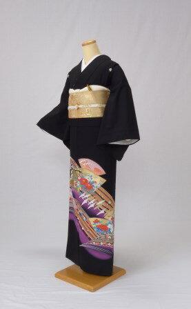 黒留袖 レンタル 着物 黒留袖 K3 紫雲取り...の紹介画像2