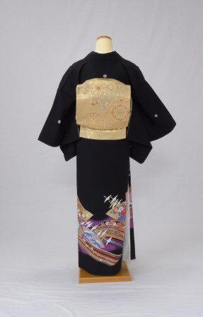 黒留袖 レンタル 着物 黒留袖 K3 紫雲取り...の紹介画像3