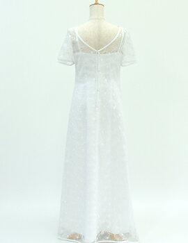 ウェディングドレス レンタル 9号「半袖レース...の紹介画像3
