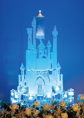 【ポイント20倍】ディズニー シンデレラ城のウェディングキャンドル【メインキャンドルレンタル】【往復送料無料】【シンデレラ キャッスル(LEDプレート付)】【ブライト】
