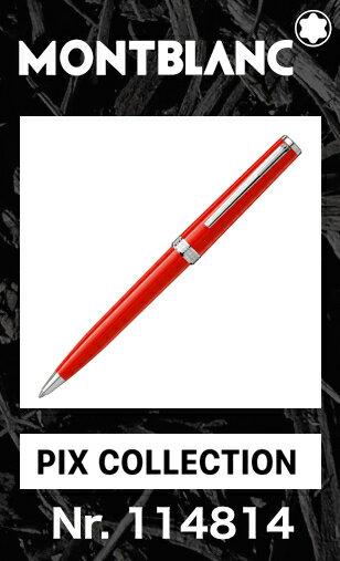 2016年新作!! モンブラン PIX コレクション コーラルレッド 114814【2年間★メーカー国際保証付】正規ギフト包装可 MONTBLANC PIX Collection coral Red ballpoint pen ボールペン (クルーズコレクション Cruise 111825)正規並行輸入品 赤オレンジ