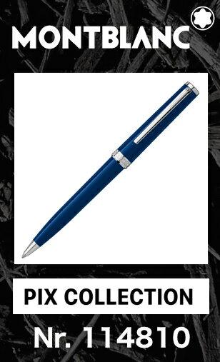 2016年新作!! モンブラン PIX コレクション ブルー 114810【2年間★メーカー国際保証付】正規ギフト包装可 MONTBLANC PIX Collection Blue ballpoint pen ツイストメカニズム ボールペン (クルーズコレクション Cruise 113072)正規並行輸入品 高級文具 青