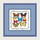 クロスステッチ刺繍キット 輸入 ルボヌールデダム Le Bonheur des Dames 刺しゅう Butterflies collection 蝶 フランス 初心者 2249