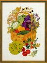 EVA ROSENSTAND クロスステッチ刺しゅうキット 【野菜のバスケット】 デンマーク 北欧 輸入 上級者 08-4176
