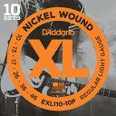 D'Addario 《ダダリオ》 XL Nickel Multi-Packs Electric Guitar Strings EXL110-10P [10 Se...