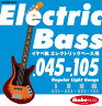"Ikebe Original 《イケベオリジナル》Electric Bass Strings ""イケベ弦 エレキベース用 045-105"" [Regular Light Gauge/IKB-EBS-45105]"