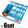 "Ikebe Original 《イケベオリジナル》Electric Bass Strings ""イケベ弦 エレキベース用 045-105"" [Regular Light Gauge/IKB-EBS-45105]×6セット 【超お買い得セット販売】"