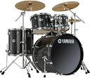 """YAMAHA 《ヤマハ》 SCB-20ZA:RB [Stage Custom """"All Birch Shell"""" 20インチ・バスドラム / レーベン・ブラック with A.Zildjianシンバル] 【シンバル・イス付き:フルセット】 【ホールカットリング&教則DVDプレゼント!】 【お取り寄せ品】"""