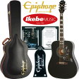 "Epiphone by Gibson 《エピフォン》 Limited Edition Hummingbird PRO (Ebony) ""IKEBE 2016 Special Package"" 【エピフォン純正ストラップ・プレゼント】"