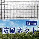 日本製 国産 防風ネット ワイドラッセル 防風網 風除け 約幅2×長さ100m(12mm)BK12 風ガード 風よけ 鳥よけ 防風シート