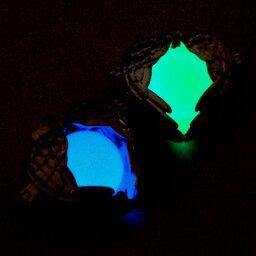 【8/9再入荷】蓄光玉/16mm/ガラス玉/暗闇で光る/ブルー/グリーン