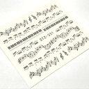 楽譜のウォーターシール ネイル レジン 封入 音楽 音符 譜面 スコア 鍵盤 ミュージック