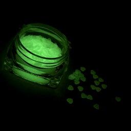 【7/18再入荷】ハートのホログラムF/蓄光/暗闇で光る/ライトグリーン/ネイル