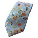 四季彩ブランドの最高級和柄ネクタイ!和柄で一本一本ハンドメイドで作製 日本製ブランドの一品 青菊模様
