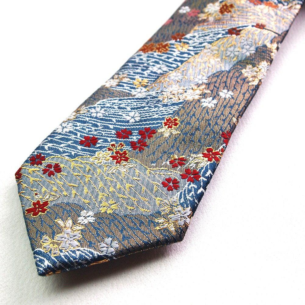 四季彩ブランドの最高級和柄ネクタイ 和柄で一本...の紹介画像2