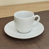 コーヒーカップ 白 白磁 ベーシック ホテル レストラン カフェ 食器 業務用 おしゃれ シンプル モダンコーヒーカップ&ソーサー 白 厚口 ベーシック 業務用食器 カフェ 食器