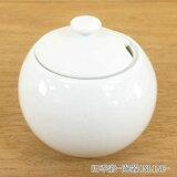 シュガーポット 陶器 丸型 白磁 Arteアルテ 洋食器 美濃焼