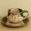 コーヒーカップ&ソーサー 手造り 織部つばめコーヒーカップ 陶器 和風 業務用 美濃焼