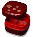 行楽弁当 梅 6.5寸直径19.4cmの弁当箱です/行楽/運動会/花見/漆器/日本製/お弁当/オードブル/通販
