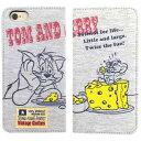 iPhone6 トム&ジェリー チーズ スウェットフリップケース  手帳型ケース TMJ-13A 送料無料