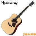 HISTORY NT-L4 NAT アコースティックギター【フォークギター】 日本製 【ヒストリー NTL4】