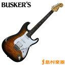 【送料無料】BUSKER'S BST-2H/FM 2TS エレキギター STタイプ 【バスカーズ BST2HFM】