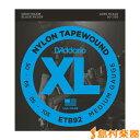 D'Addario ETB92 ベース弦 Black Nylon Tapewound ミディアムゲージ 050-105
