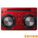 【送料無料】Pioneer DDJ-WEGO3-R レッド DJコントローラー iOS対応 【パイオニア DDJWEGO3R】