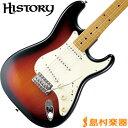 HISTORY TH-SV/M 3TS(3トーンサンバースト) ストラトキャスター エレキギター 【ヘリテイジウッド】【サークルフレッティングシステム】【日本製】 【ヒストリー THSV/M】