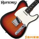 HISTORY TH-TC/R 3TS(3トーンサンバースト) テレキャスター エレキギター 【ヘリテイジウッド】【サークルフレッティングシステム】【日本製】【KTSチタンサドル】 【ヒストリー THTC/R】