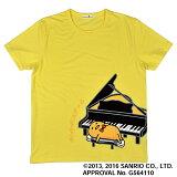 Sanrio ぐでたま 半袖Tシャツ イエロー 【Mサイズ】 ピアノバージョン 【サンリオ】【島村楽器コラボグッズ】【数量限定】