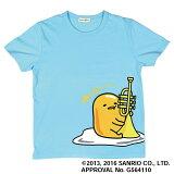 Sanrio ぐでたま 半袖Tシャツ ブルー 【Mサイズ】 トランペットバージョン 【サンリオ】【島村楽器コラボグッズ】【数量限定】